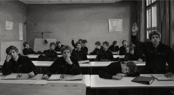 Daniel Wiesenfeld, Students, 150 x 225 cm, 2018, Öl auf Leinwand
