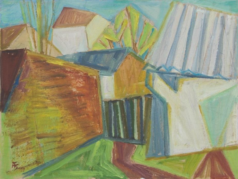 Ausstellung 07.05. - 13.06.2011 | Anneliese Schöfbeck | Nachbarliche Welten | Malerei, Collagen