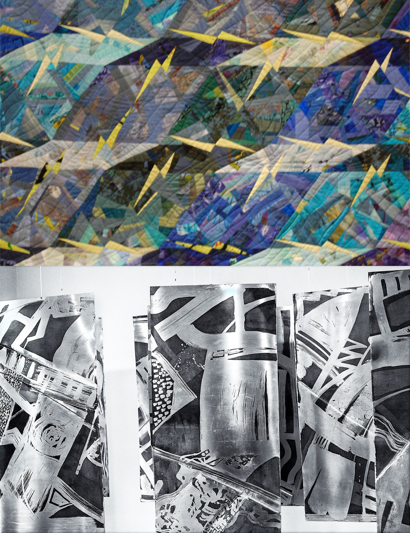 Ausstellung 29.04. - 01.06.2017 | Dorle Stern-Straeter und Ugi Radeloff | Quilts, Metallgestaltung