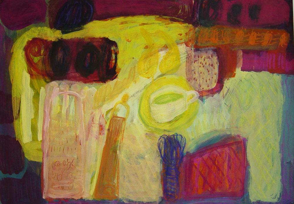Ausstellung 28.03. - 08.05.2010 | Saskia Wenzel | Lieben Rot und Grün den Strich....... | Malerei, Zeichnungen